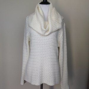 RD Style Cream Cowl-Neck Sweater large